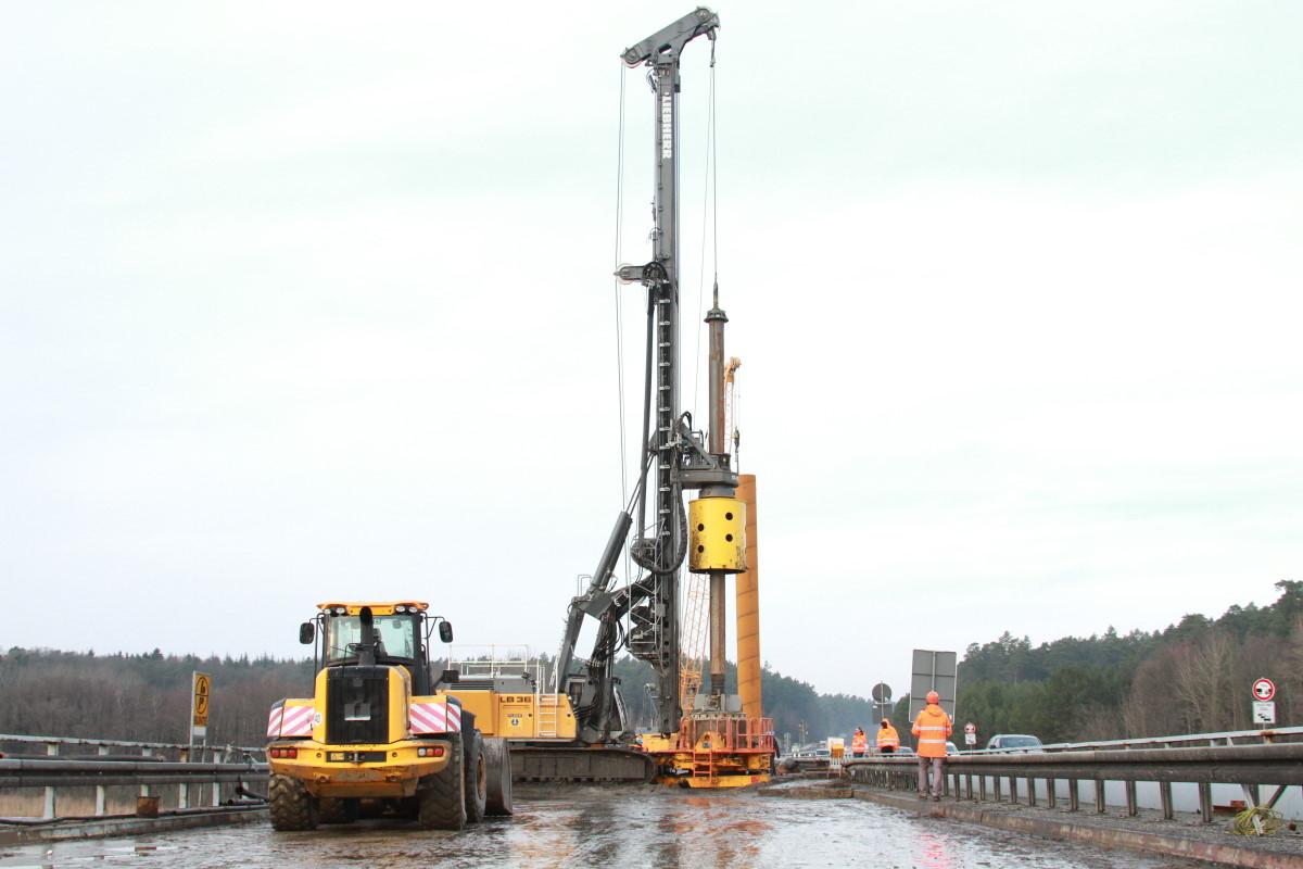 Petersdorfer Brücke Baustelle