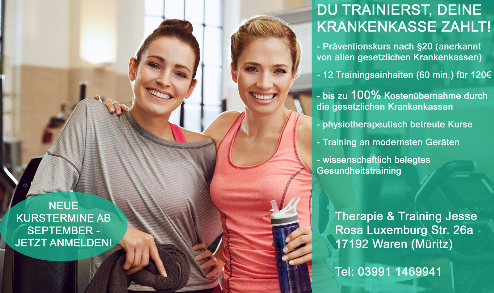"Fitnessstudio ""Therapie & Training Jesse"" in Waren (Müritz)"